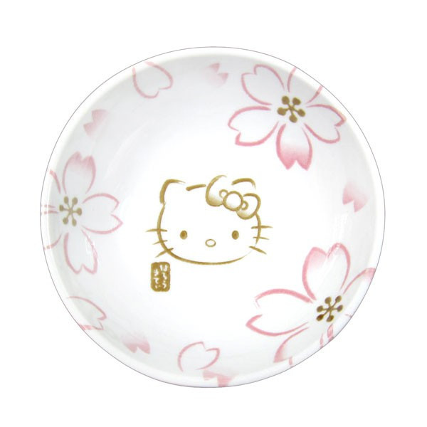 凱蒂貓Hello Kitty_生活日用品_日本製彩繪小碗-KT櫻花