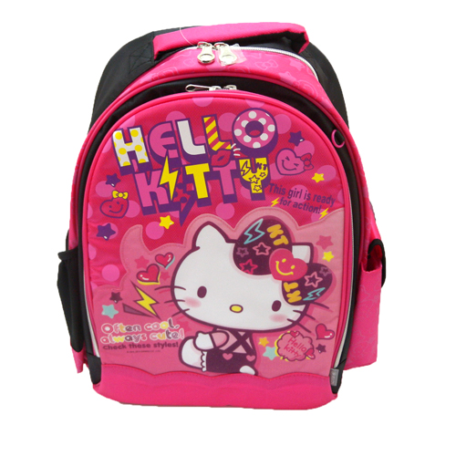 凱蒂貓Hello Kitty_書包背包_Hello Kitty-後背書包-微笑愛心紅