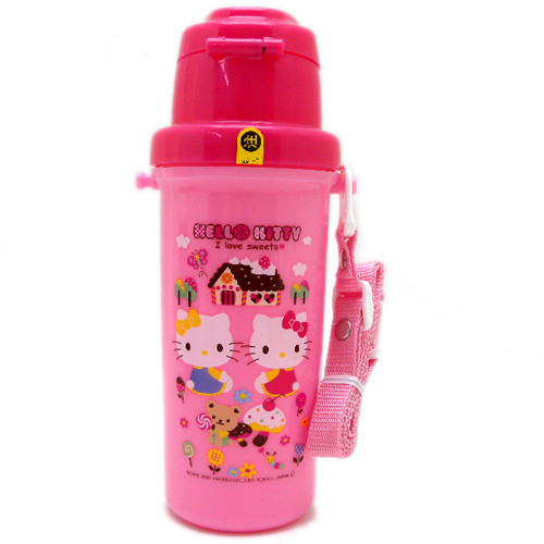 凱蒂貓Hello Kitty_水壼_Hello Kitty-直飲式水壺600ML-點心粉