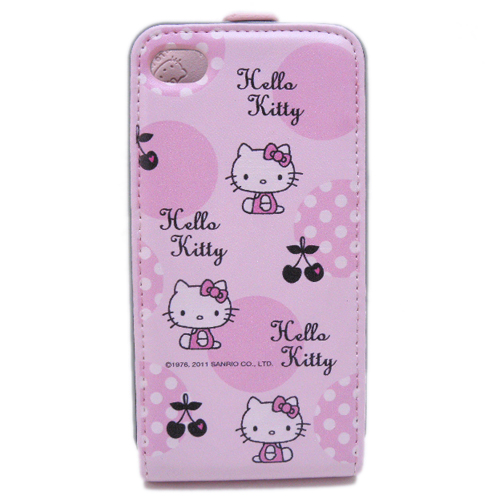 凱蒂貓Hello Kitty_生活日用品_Hello Kitty-IPHONE 4皮套-粉色圈圈