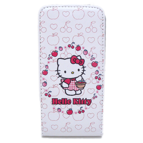 凱蒂貓Hello Kitty_生活日用品_Hello Kitty-IPHONE 4皮套-白色蘋果