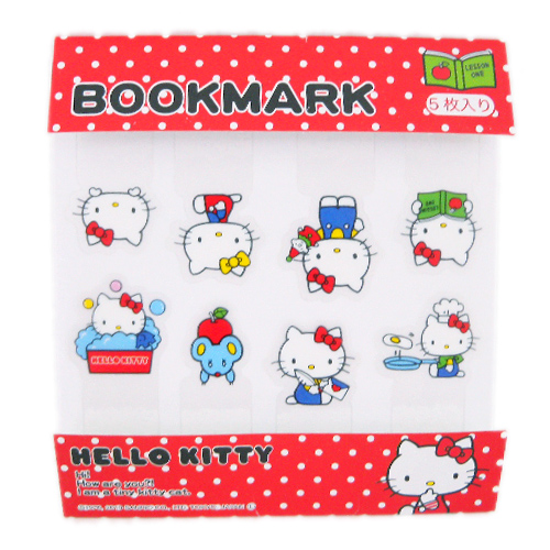 凱蒂貓Hello Kitty_其他_Hello Kitty-透明貼紙造型書籤-多姿態