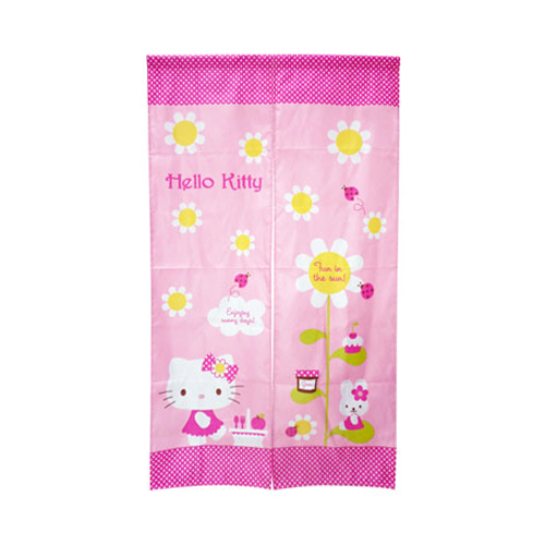 凱蒂貓Hello Kitty_生活日用品_Hello Kitty-太陽花門簾-長