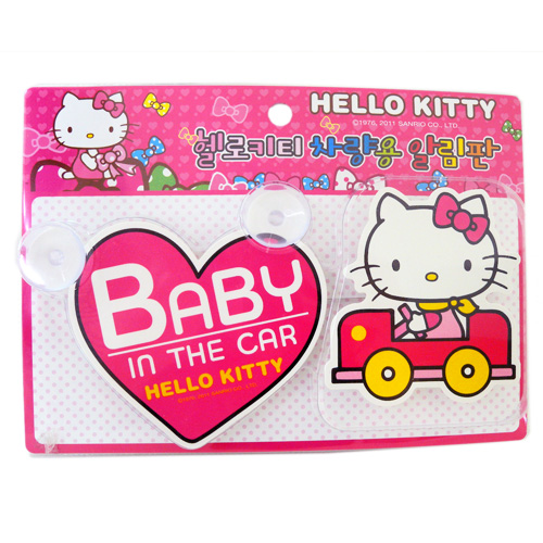 凱蒂貓Hello Kitty_汽車百貨_Hello Kitty-車用吸盤-BABY IN CAR