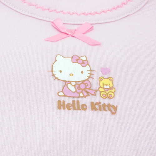 凱蒂貓Hello Kitty_Hello Kitty-短袖內衣100cm-粉底