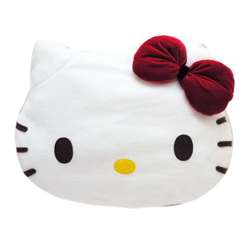 凱蒂貓Hello Kitty_抱枕_Hello Kitty-松竹梅頭型抱枕-紅結