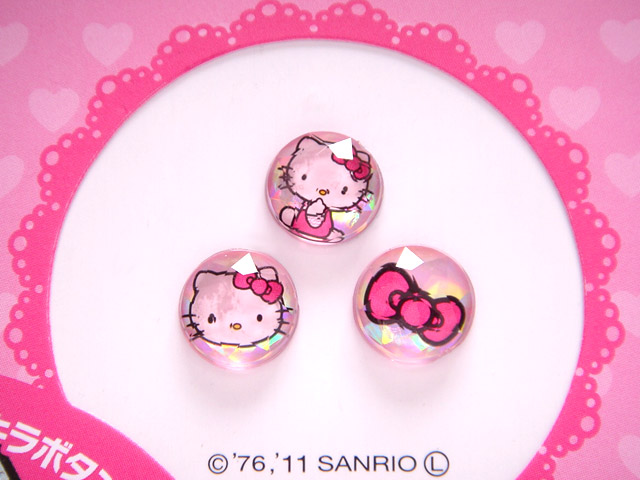凱蒂貓Hello Kitty_流行百貨_Hello Kitty-iPhone 4S HOME鍵貼紙-粉
