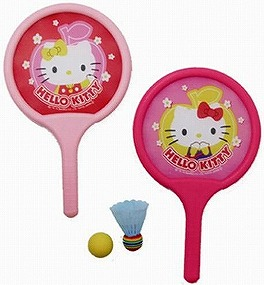 凱蒂貓Hello Kitty_Hello Kitty-軟式羽球玩具