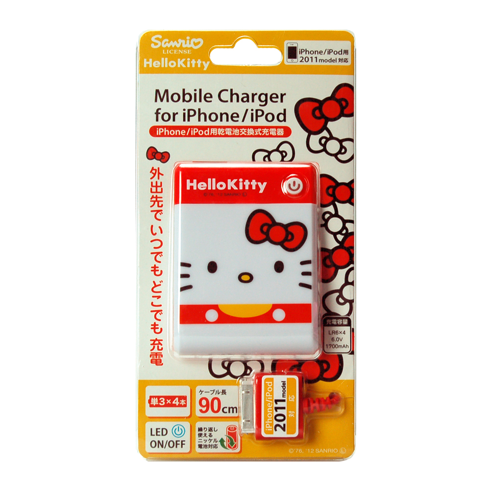 凱蒂貓Hello Kitty_電子3C館_Hello Kitty-iPhone電池交換式充電器