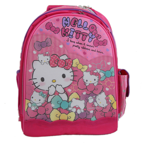 凱蒂貓Hello Kitty_書包背包_Hello Kitty- 後背書包L-多結晶亮粉