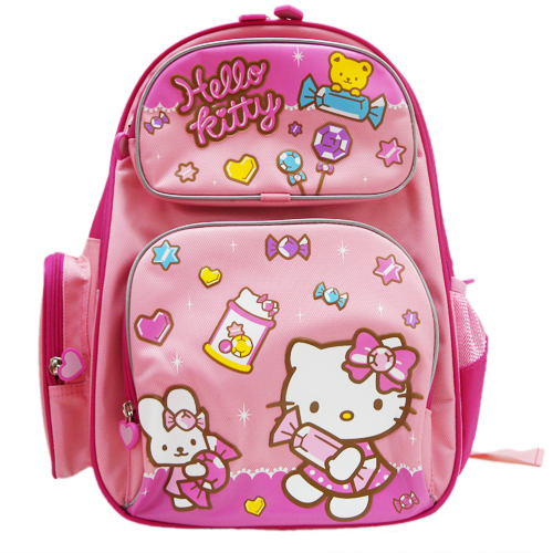 凱蒂貓Hello Kitty_書包背包_Hello Kitty-kt護脊書包-水晶糖果