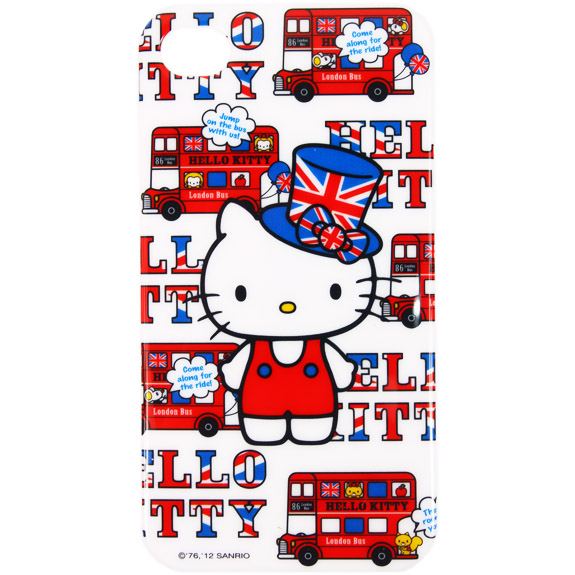 凱蒂貓Hello Kitty_電子3C館_Hello kitty-iphone4s-英國風巴士