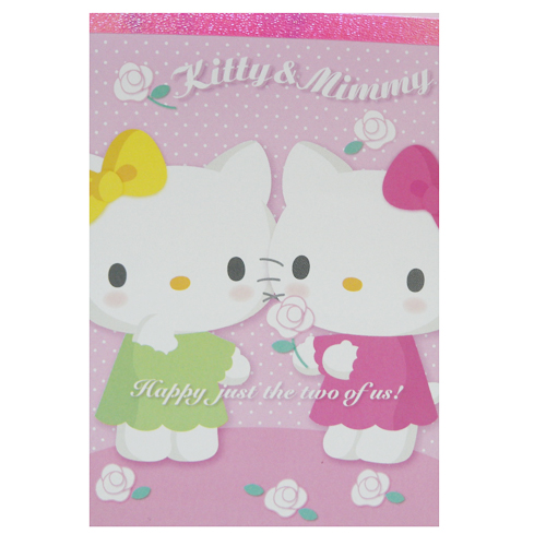 凱蒂貓Hello Kitty_紙製品_Hello Kitty- 便條本-kt&mimmy
